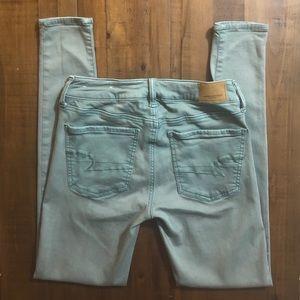American Eagle Super Stretch X Olive Jeans